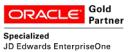Oracle Gold Partner. JD Edwars EnterpriseOne