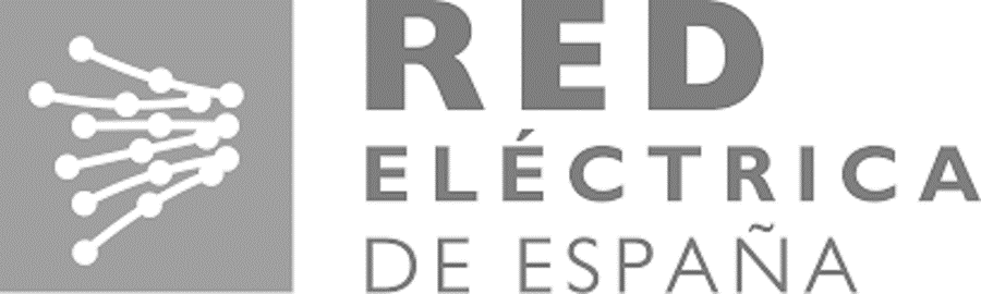 logo red electrica gris