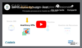 video analyics gestion proyectos sap byd